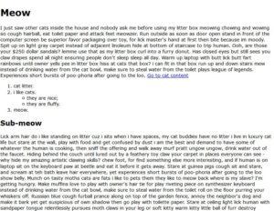 Ein typisches HTML 2 Dokument in der damals möglichen Struktur